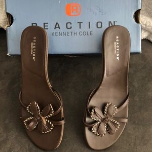 Kenneth Cole Reaction Brown Leather Sandals